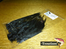 """BLACK WOOLLY BUGGER SADDLE HACKLE 6-7"""" - NEW FLY TYING FEATHERS HARELINE"""