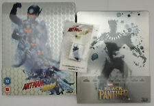 Ant-Man and Wasp 3D+Blu-ray (U.K) + MAGNET / Black Panther 3D (Spain) STEELBOOKS