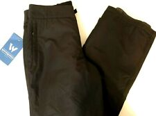 New With Tags- Woman's Small White Sierra Snow/boarding Pants- Black- Waist 32