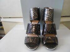 Jessica Simpson Elsbeth Silver/Bronze Metallic Boa Snake Print Size 8 (NIB)