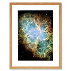 Hubble Space Telescope Image Of The Crab Nebula Framed Wall Art Print