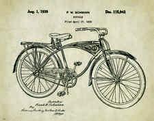 Bicycle Schwinn Patent Poster Art Print Vintage Bike Parts Service Toys PAT375