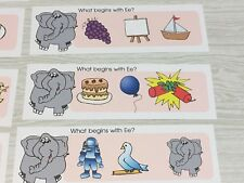 Phonics Ee - What Begins With Ee - Laminated Activity Set - Teaching Supplies