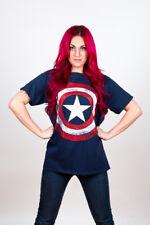 Marvel Captain America Superhero T-shirt Official Distressed Shield Design Mens XL