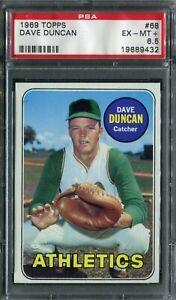 1969 Topps #68 Dave Duncan PSA 6.5 EX-MT+
