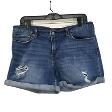 Levi's Cuffed Shorts 32 Destroyed Rips Holes