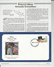 GRENADA GRENADINES PRINCESS DIANA MEMORIAL First Day Cover (8687)