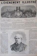 TUNNEL ALPES COMMUNE PARIS GRAVURES JOURNAL EVENEMENT ILLUSTRE N° 40 de 1871