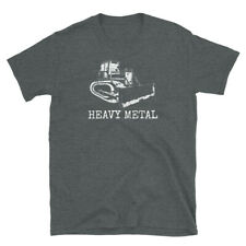 Heavy Metal Dozer Digger Funny Cute Backhoe Bulldozer  White T-shirt