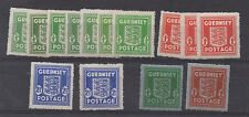 Guernsey. Complete set x 14 War Occupation Issues inc shade varieties. Fine MNH.