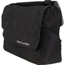 New Maclaren Nappy Bag Black Diaper Baby Adjustable Strap Newborn Bottle Holder
