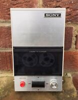 Sony TC-12 Vintage Portable Cassette Tape Recorder