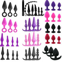 3/4/7 pcs Women Butt Toy Insert Plug Silicone Jeweled Crystal Plated Stopper Set