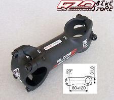 Attacco manubrio ITM Alcor 80 black (nero) 120mm per bici MTB/Corsa (20°)