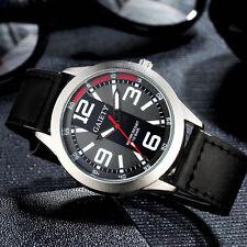 Retro Men's Watch Stainless Steel Leather Band nalog Quartz Sport Wrist Watches