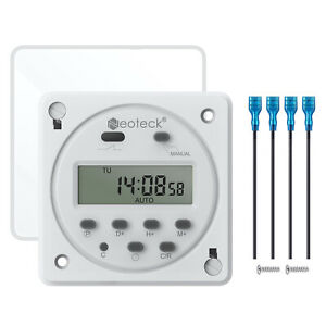Programmable Timer Switch DC 12V ON/OFF Digital Electronic LCD Time Relay 16A