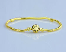 7.5inch 19cm Gold Clasp Gold Snake Chain Bracelet Fit European Charm Bead