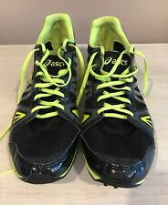 ASICS Hyper XC  Size 12-1/2 Men's Spikes Running Shoes Black And Yellow