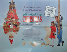 Harley Jane Kozak ALL I WANT FOR CHRISTMAS(1991) Original movie poster