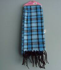 FLEECE SCARF BLUE W/ STRIPES /FOR EVERY AGE/UNISEX/MADE BY KALI & WINS