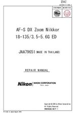 Nikon AF-S DX Zoom-Nikkor 18-135mm f/3.5-5.6G ED Service Repair Manual