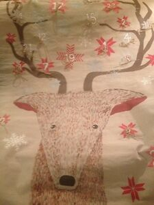 POTTERY BARN KIDS CHRISTMAS PAINTED REINDEER FACE ADVENT CALENDAR BRAND NEW