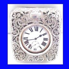 Edwardian Silver Cased Goliath Patent 8-Day  15J Roskopf Pocket Watch 1904