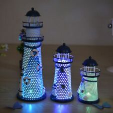 LED Light Metal Lighthouse Mediterranean Decoration Light Tower Photography Prop