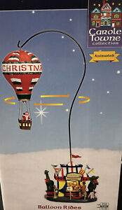Lemax Sky High Balloon Rides w Santa Carole Towne Collection Animated WORKS