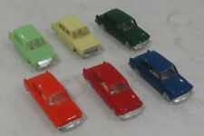 TRIANG MINIX SMALL SCALE CARS x6 – FOUR FORD ANGLIA + TWO MORRIS 1100
