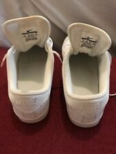Boy Nike Tennis Classic Prm White Leather Shoes Sz 5 Preowned