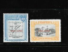 COLOMBIA Sc C289-90 NH issue of 1957 - OVERPRINT SET