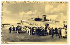 1947 BEA British European Airways Vickers Viking 1B Copenhagen Airport Postcard