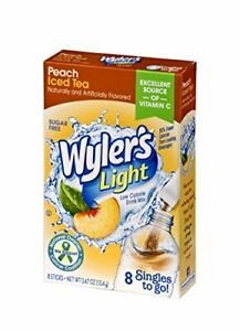 Wyler's Light Singles To Go Powder Packets, Water Drink Mix, Peach Pack of 12
