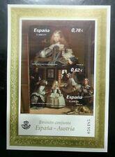 Spain - Austria Joint Issue Painting Princess Margarita Teresa 2009 (ms) MNH