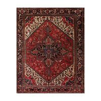 """8'3"""" x 10' Hand Knotted 100% Wool Herizz Traditional Oriental Area Rug Red"""