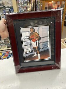 MUHAMMAD ALI SIGNED AUTOGRAPHED FRAMED  PHOTO WITH COA AND STICKER