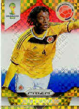 2014 World Cup Prizm Red White Blue Plaid Parallel No.51 J. CUADRAOO (COLOMBIA)