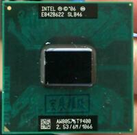 Intel Core 2 Duo T9400 CPU 2.53GHz Dual-Core 6MB Socket 478 Laptop Processor RHN