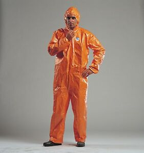 Dupont Tychem F Chemical Suit Size L X 1 Coverall,Pesticide Spraying EN14126