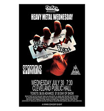 Judas Priest / Scorpions / Def Leppard 1980 Cleveland Concert Poster