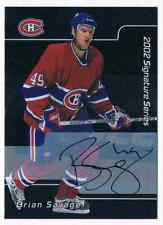 2002-03 BE A PLAYER SIGNATURE BRIAN SAVAGE AUTO MONTREAL CANADIENS #15