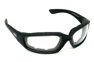 New Clear motorcycle wraparound biker glasses/sunglasses + Free Pouch & Postage