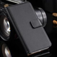 Genuine 100% Real Leather Wallet stand case cover for Sony Xperia L1 Z5 XA XZ Z3