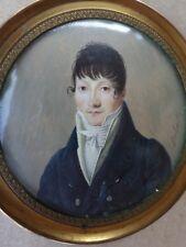 DUBASTY Joseph, act.1808-1842-Peinture Miniature-Portrait homme-époque Empire