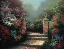 The Victorian Garden - Painter of Light Art Card, Thomas Kinkade Dealer Postcard