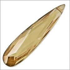 Cubic Zirconia Flat Pear Briolette Pendan tBead 9x36 Dark Champagne #64145