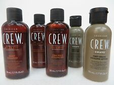 AMERICAN CREW SHAMPOO & CONDITIONER & GEL & SHAVE GEL & POST-SHAVE LOTION TRAVEL