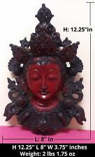 Large Red Tara Buddhist Deity Hard Resin Wall Hanging Sculpture ~ from Nepal