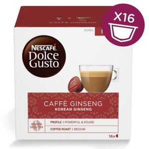 NESCAFE' DOLCEGUSTO CAPSULE ORIGINALI GINSENG KOREAN ESPRESSO CIALDE CAFFE' 16PZ